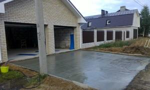 Как правильно бетонировать двор