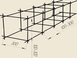Схема вязки арматуры под ленточный фундамент
