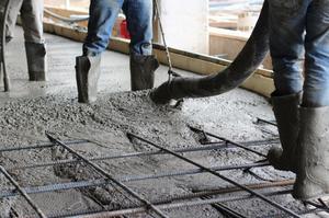 Заливка бетоном М300
